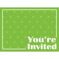 Club Pack of 48 Decorative Fresh Lime with Polka-Dot Postcard Party Invitations 6""