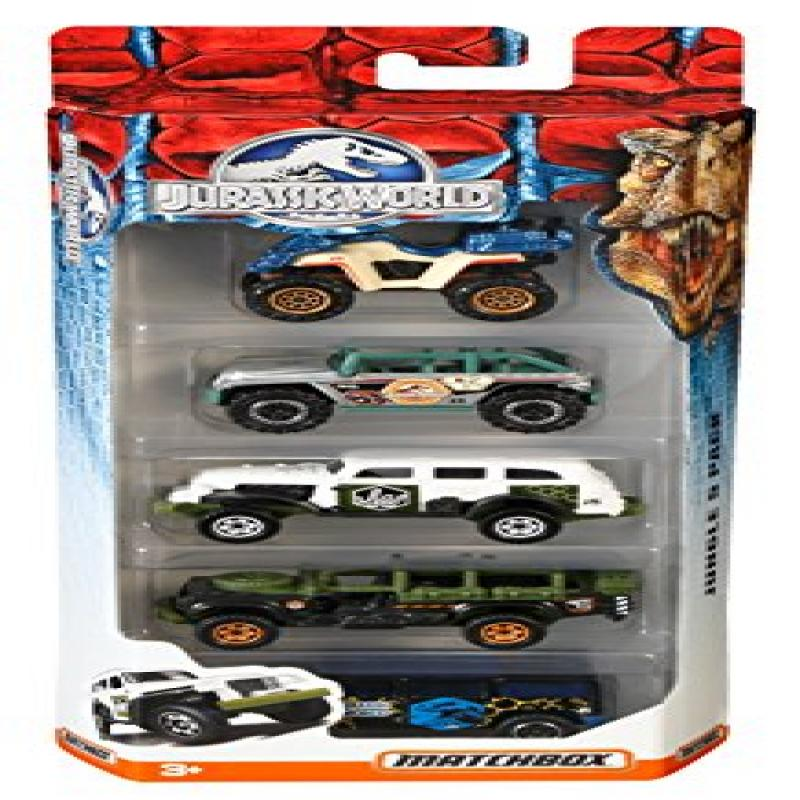 Matchbox Jurassic World 1:64 Vehicle 5-Pack (Styles May Vary) by