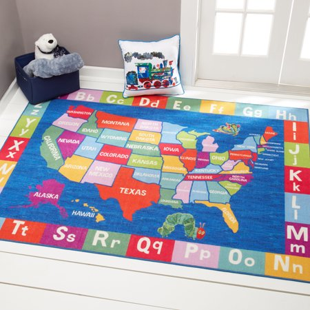 Area Wall Map - Eric Carle Elementary USA Map Area Rug