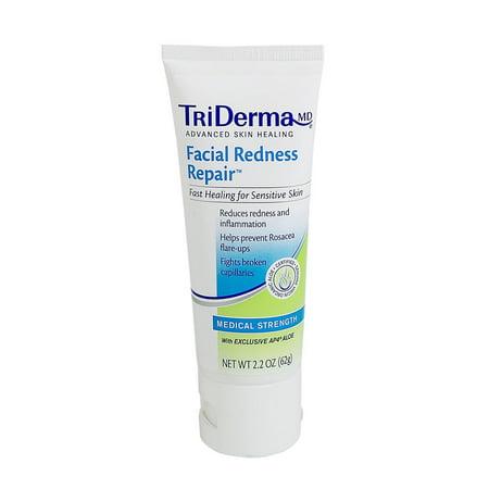 Genuine Virgin Aloe Triderma  Facial Redness Repair, 2.2 oz