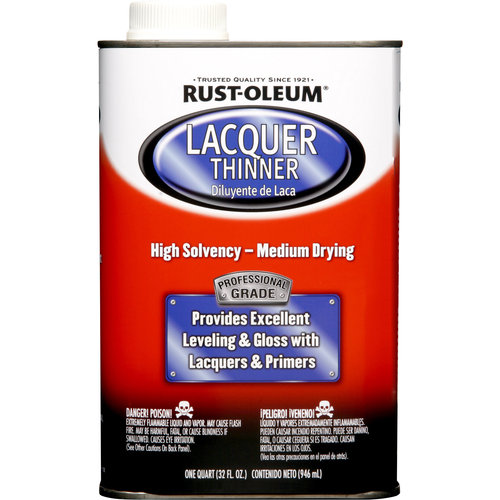 Rust-Oleum Automotive Professional Lacquer Thinner 300 VOC, 1 qt, 4pc