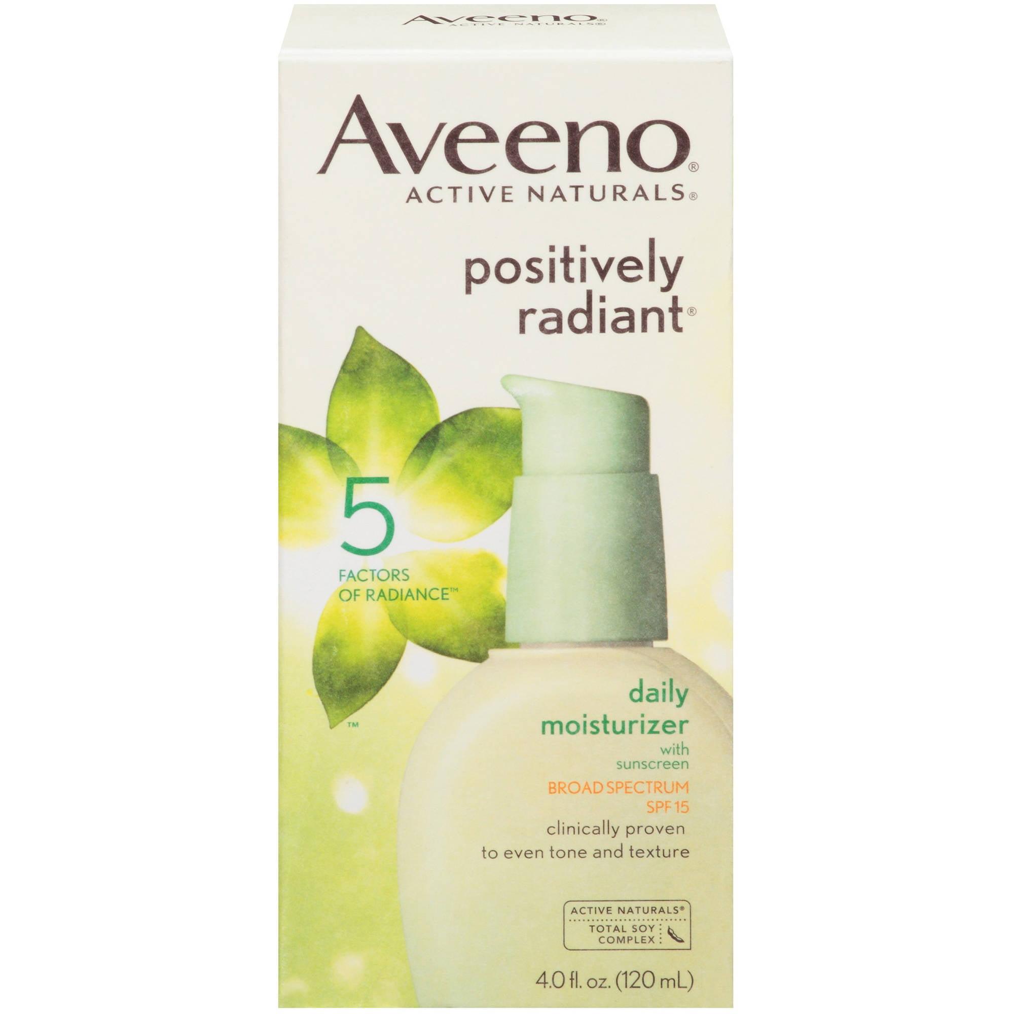 Aveeno Positively Radiant Daily Moisturizer, SPF 15 Facial Moisturizers, 4 fl oz