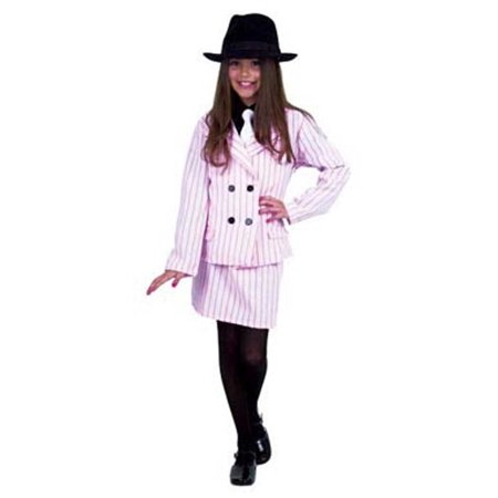 Child Pink Gangster Moll Dress Costume Charades - Gangster Moll Costumes