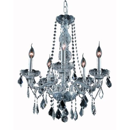 UPC 842814130494 product image for Elegant Lighting Value Verona 5LT Silver Shade Chandelier - V7855D21SS-SS/SS | upcitemdb.com