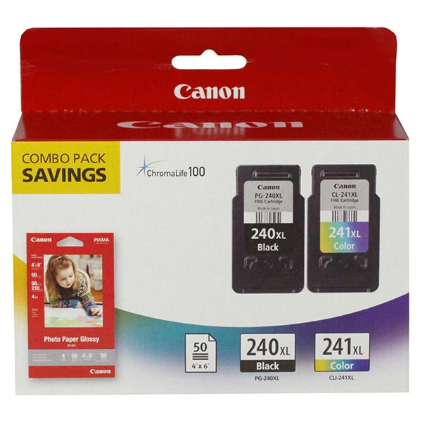 2 X Genuine Canon Fine Cartridge PG-240XL/CL-241XL with P...