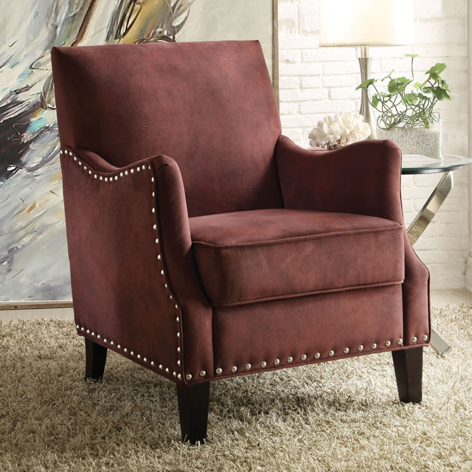 ACME Sinai Naihead Club Chair, Multiple Colors by Acme Furniture