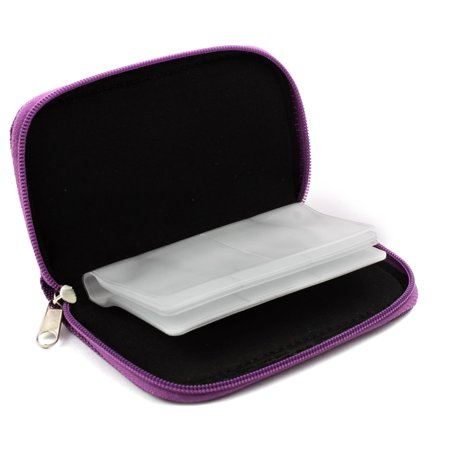 Unique Bargains Nylon 22 Slots Storage Carrying Pouch Case Bag Purple for CF MMC Micro SD Card - image 2 of 4