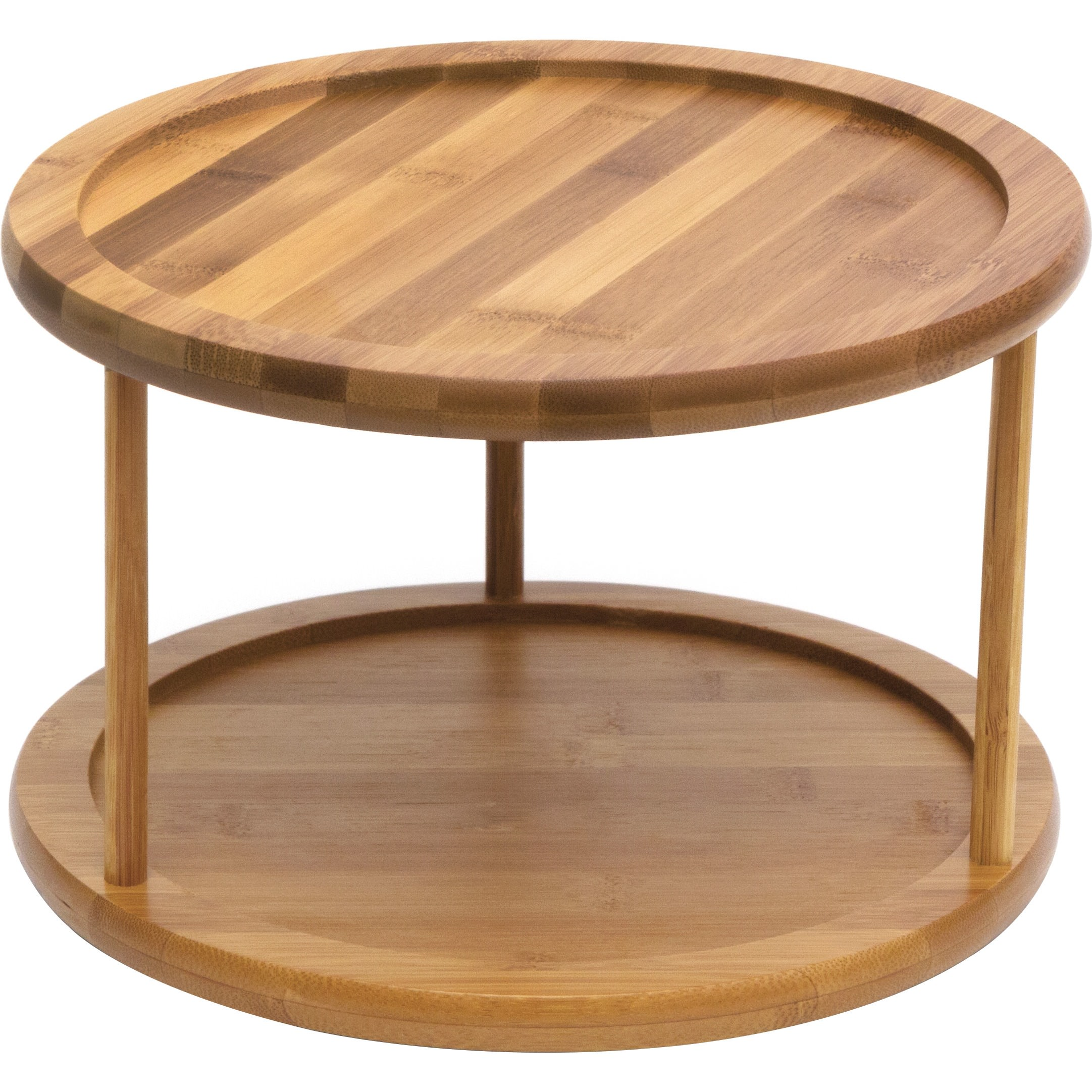 Lipper International Bamboo Turntable, 2-Tier