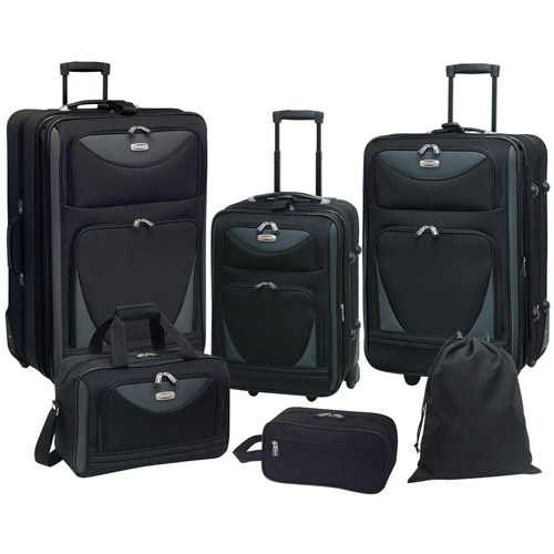 Travelers Club Skyview 6-Piece 2-Tone Luggage Set