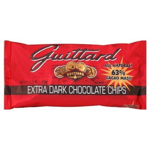 E Guittard 63% Extra Dark Chocolate Chip 11. 5-Ounce -Pack of 12