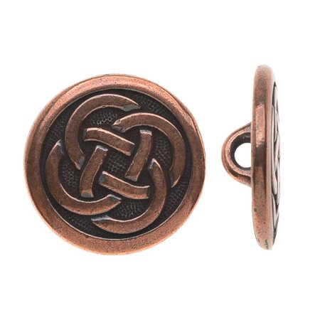 Celtic Collection, Celtic Knot Button 16mm, 1 Piece, Antiqued (Copper Celtic Knot)