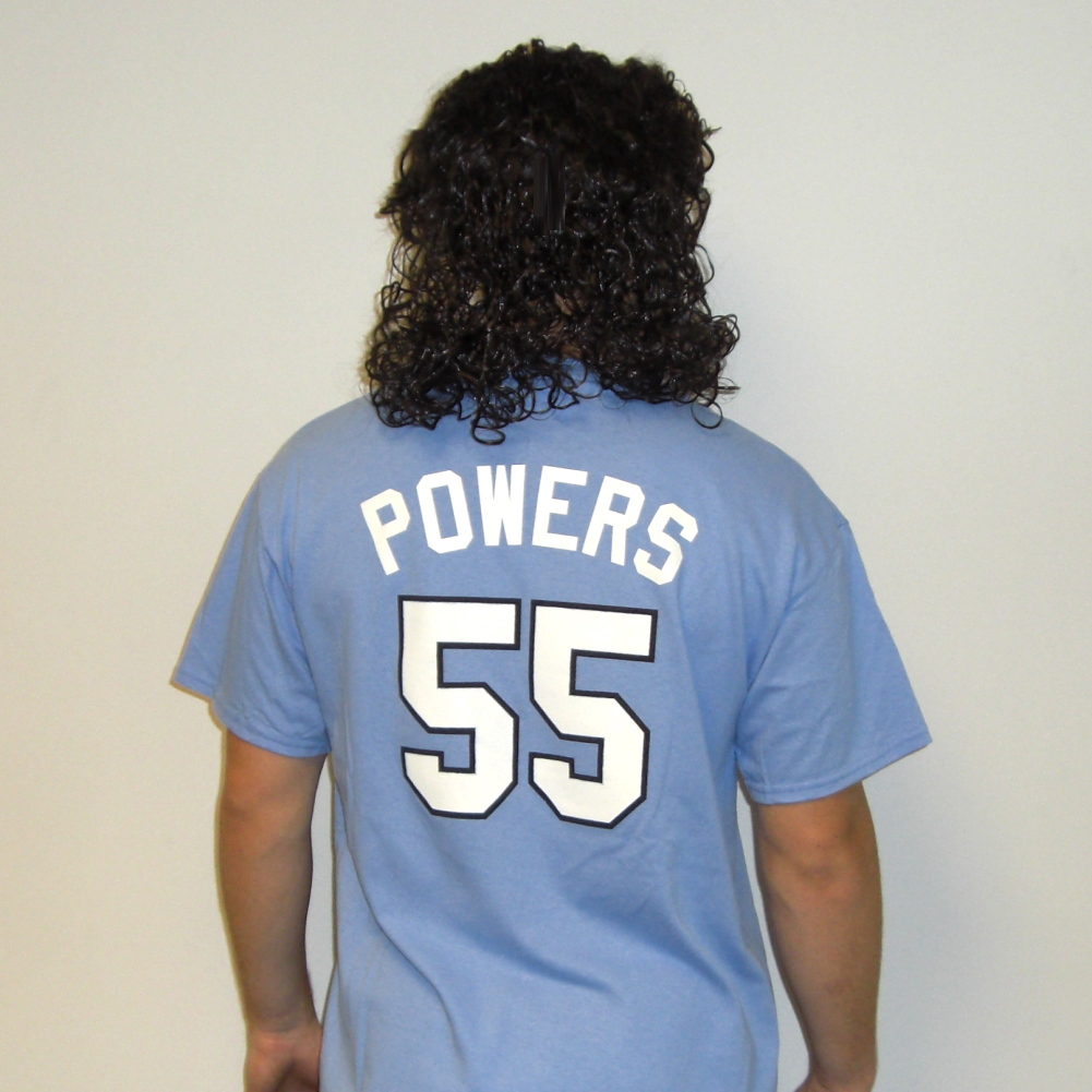 Curly Black Mullet Wig Adult Mens Kenny Powers A.C Slater Saved By Bell Costume