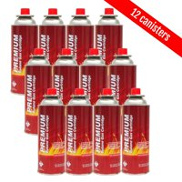Butane Fuel Canisters for Portable Camping Stoves,Gas Burners, UL Listed-12pk
