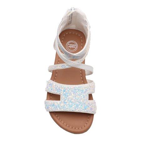 Wonder Nation Glitter Gladiator Sandal (Toddler Girls)