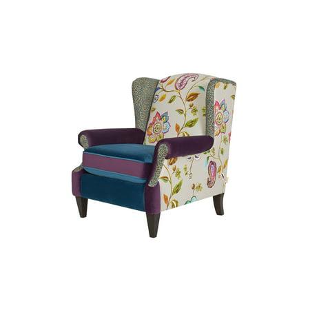 Incredible Anya Wingback Accent Arm Chair Multicolored Floral Inzonedesignstudio Interior Chair Design Inzonedesignstudiocom
