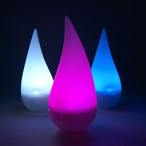 Fortune Products Rainbow Raindrop LED Lights Statue 2.75W 2.875H