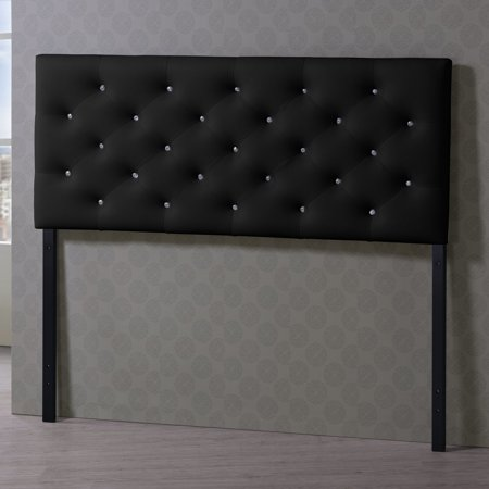 Baxton Studio Viviana Modern and Contemporary Faux Leather Upholstered Button-Tufted Full Size Headboard, Multiple Sizes and Colors