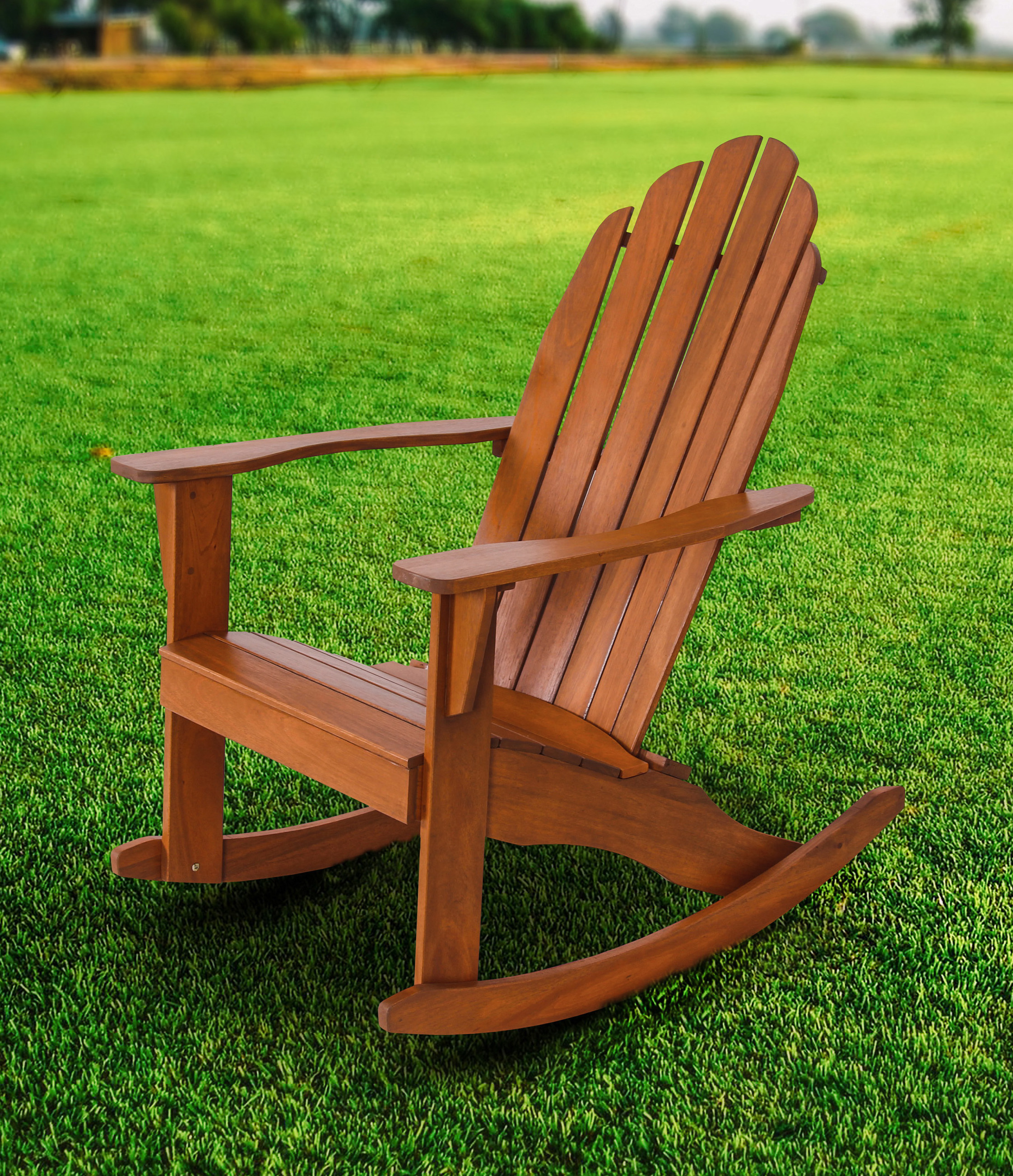 Mainstays Wood Adirondack Rocking Chair, Natural