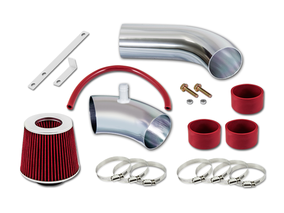 "Filter For 90-95 Thunderbird 3.8L V6 Supercharged 3/"" RED Cold Air Intake"