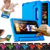 "Children Safe Kids Handle Case Shock Proof Protective EVA Foam Stand Case Cover 7 inch For Amazon Kindle Fire 7  Case - (2015 Generation) Feature:100% new and high quality.Using high-quality PVC-free EVA material, non-toxic, food-grade reach safety.Easy to carry, portable, there is the role of popular brands.With curved bracket function, standing stable, easy to use.Specifications:Product name: Protective caseMaterial: EVAColor: Red, pink, blue, purple, orange, green, rose redSize: Approx. 21x21x2cm/8.26""x8.26""x0.78""Style: Cartoon Suitable for: Amazon Kindle Fire 7"" Tablet PC 2015 Edition Package Include:1x Protective caseThis Protective case is made entirely of durable EVA foam - Soft, squishy material is fun and safe for children. It is designed to be easy for little hands to hold while they play their games.Due to the natural characteristic of the EVA, it performs excellent in shock-absorbing, and helps to protect the device from accidental drops and bumps. Featuring raised screen bezels helps to protect the device's screen from scratches.This case has a unique feature, a convertible handle. And it is perfectly sized for their little hands and makes it easier to carry around. Also, the handle can double as a stand, which could prop up the device nicely for a comfortable hands-free viewing."