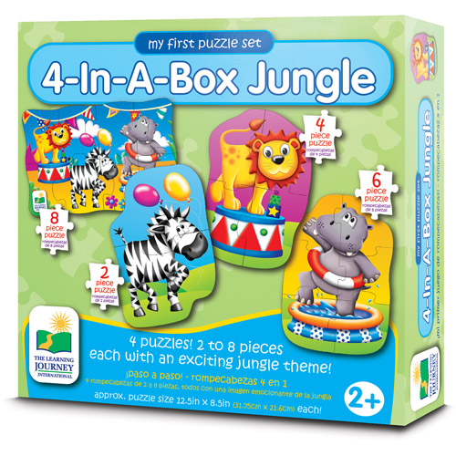 The Learning Journey My First Puzzle Set, 4-in-a-Box, Jungle by The Learning Journey
