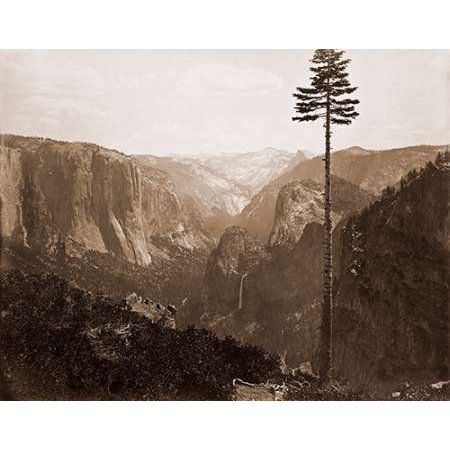Yosemite Valley from the Best General View 1866 Poster Print by Carleton Watkins