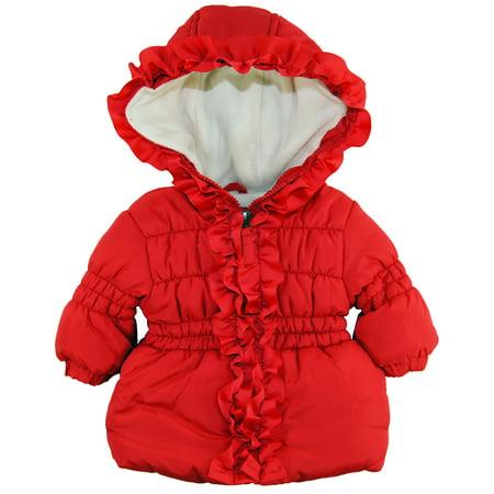 e525c5d03 Pink Platinum - Pink Platinum Baby Girls Newborn Ruffle Hooded ...