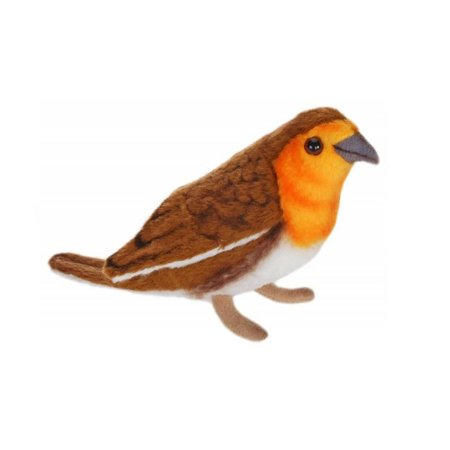 Pack of 6 Brown Robin Hand Crafted Plush Bird Stuffed Animals (Brown Bird Craft)