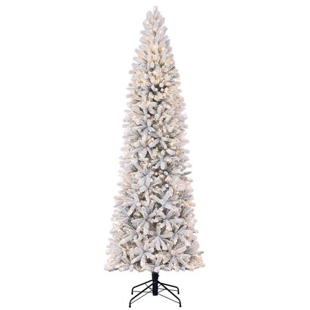 Home Heritage 9 Foot Frosted Alpine Quick Set Artificial Pre Lit Christmas Tree ()