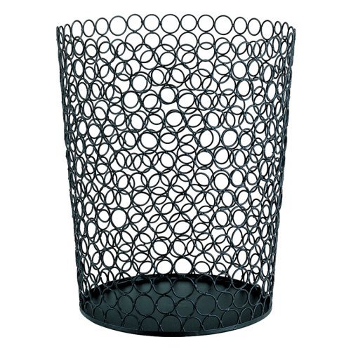 Organize It All Metal Wire Circle Round Wastebasket