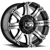 "Ion 187 18x9 6x135/6x5.5"" +18mm Black/Machined Wheel Rim 18"" Inch"