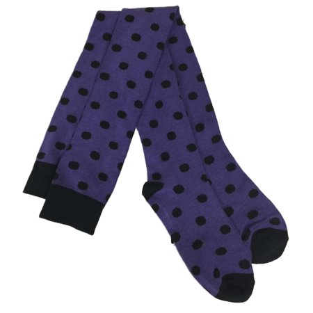 Target Womens Sexy Purple & Black Polka Dot Thigh High Socks Halloween - After Halloween Sale Target