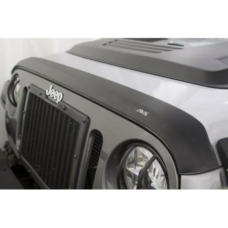 AVS 07-18 Jeep Wrangler Unlimited Aeroskin Low Profile Hood Shield - Matte Black