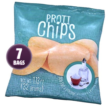 Proti-Thin - Sea Salt & Vinegar Proti Chips - High Protein - Low Calorie - Low Fat - Healthy Snack Chips - 7