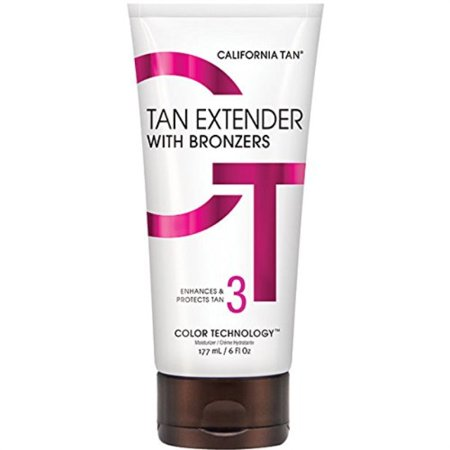 California Tan Extender with Bronzers, Enhances & Protects Tan for Both Sunless and UV Results, Cruelty Free, 6 Ounce