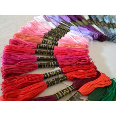 acc4d368c0f5d Reactionnx Premium Rainbow Color Embroidery Floss, Cross Stitch Embroidery  Thread, Friendship Bracelets Floss, Crafts Floss, 100 Colors Skeins Per ...