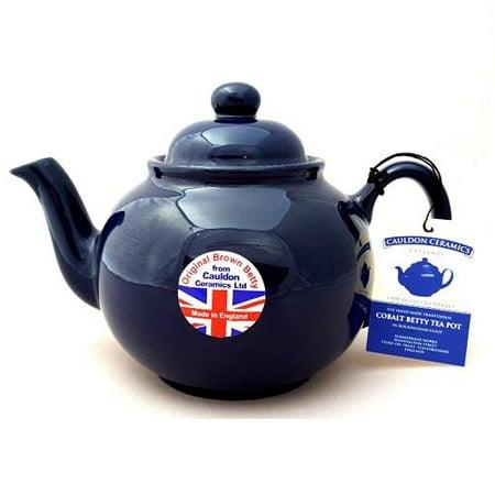Hand made Original 6 Cup Brown Betty Teapot in Cobalt Blue (Cobalt betty)
