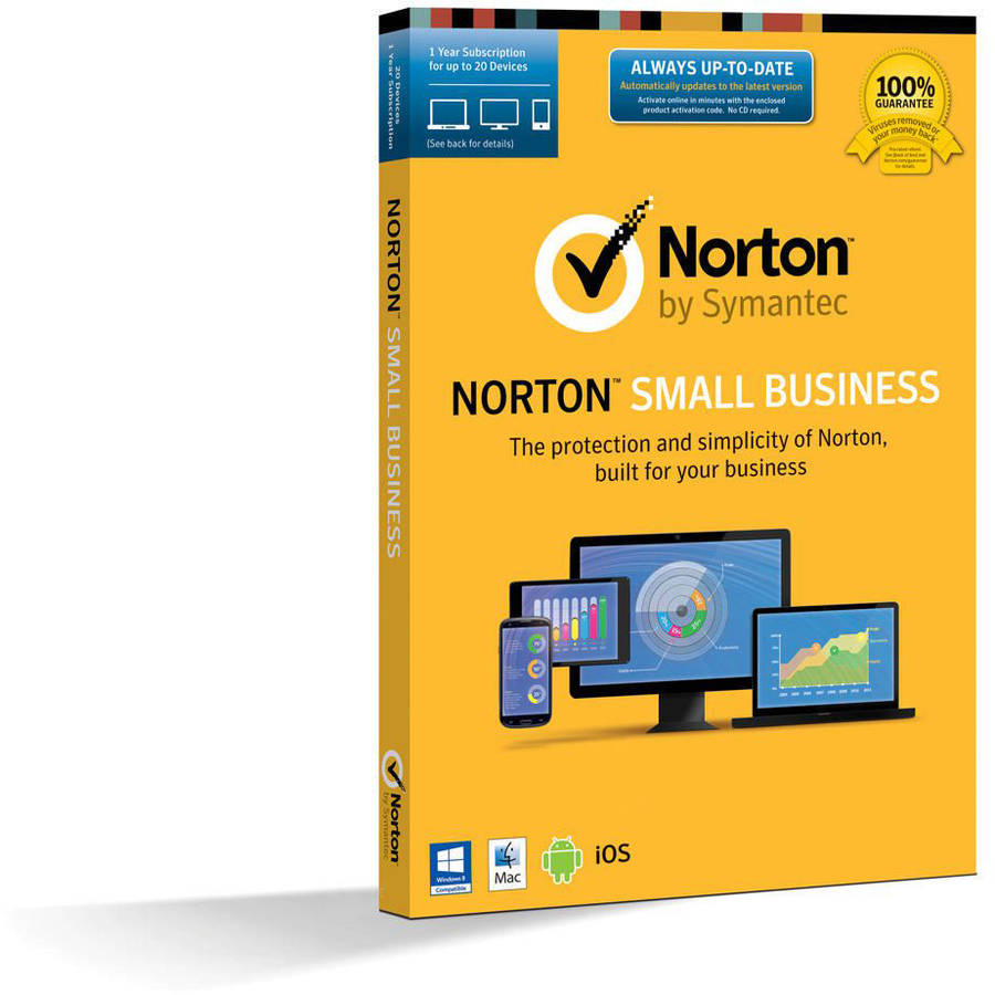 Symantec 21338046 Norton Small Business, 12 Months, 20 Devices (Email Delivery) by Symantec