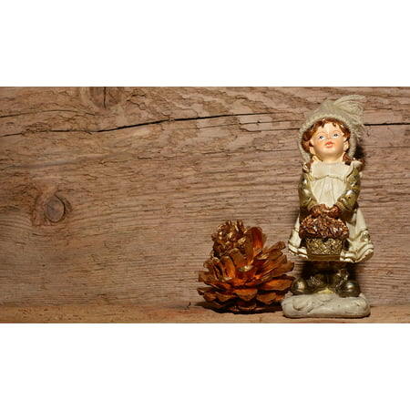 Buy Pine Cones (Framed Art For Your Wall Boy Pine Cones Fig Wood Chalk Figure Christmas 10x13)