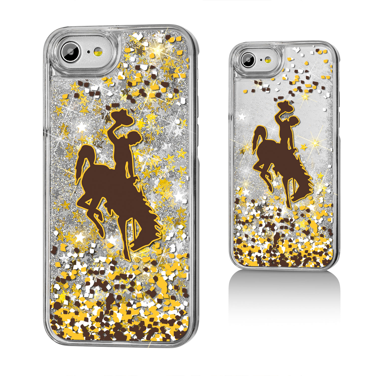 UW Wyoming Cowboys Confetti Glitter Case for iPhone 8 / 7 / 6