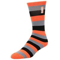NBA Logo Womens Pro Stripe Socks - Melon - Lad 9-11