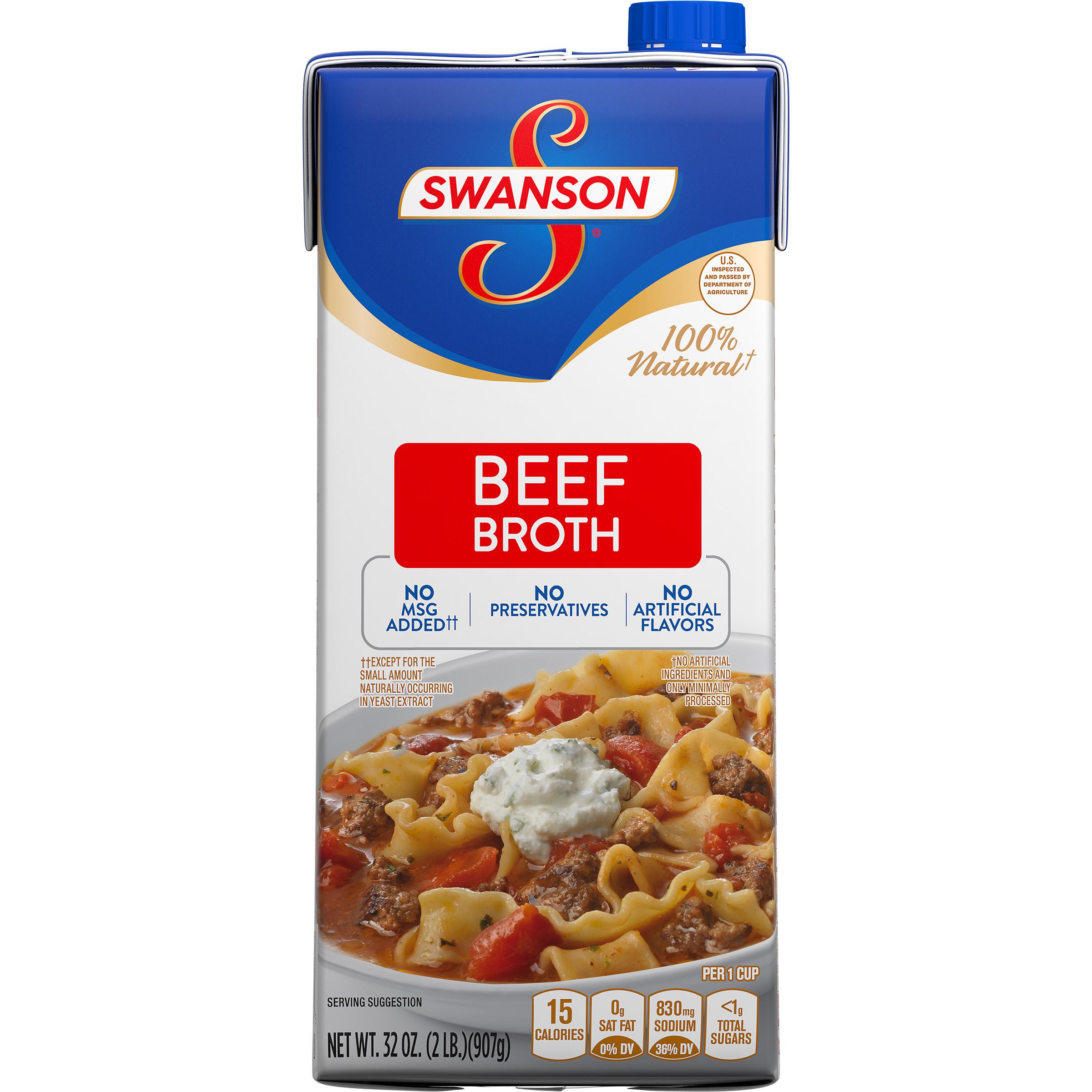 (6 Pack) SwansonBeef Broth, 32 oz. Carton