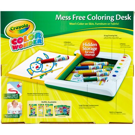 Crayola Color Wonder Mess-Free Coloring Desk - Walmart.com