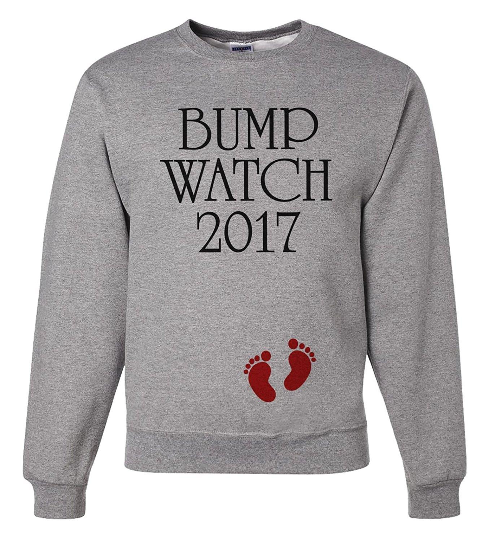 Custom Party Shop Unisex Bump Watch New Years Sweatshirt - X-Large