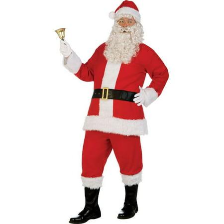 Adult XL Deluxe Flannel Santa Suit Costume](Girl In Santa Suit)