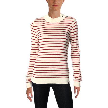 Scotch & Soda Womens Knit Striped Pullover Sweater (Scotch And Soda Sweater)