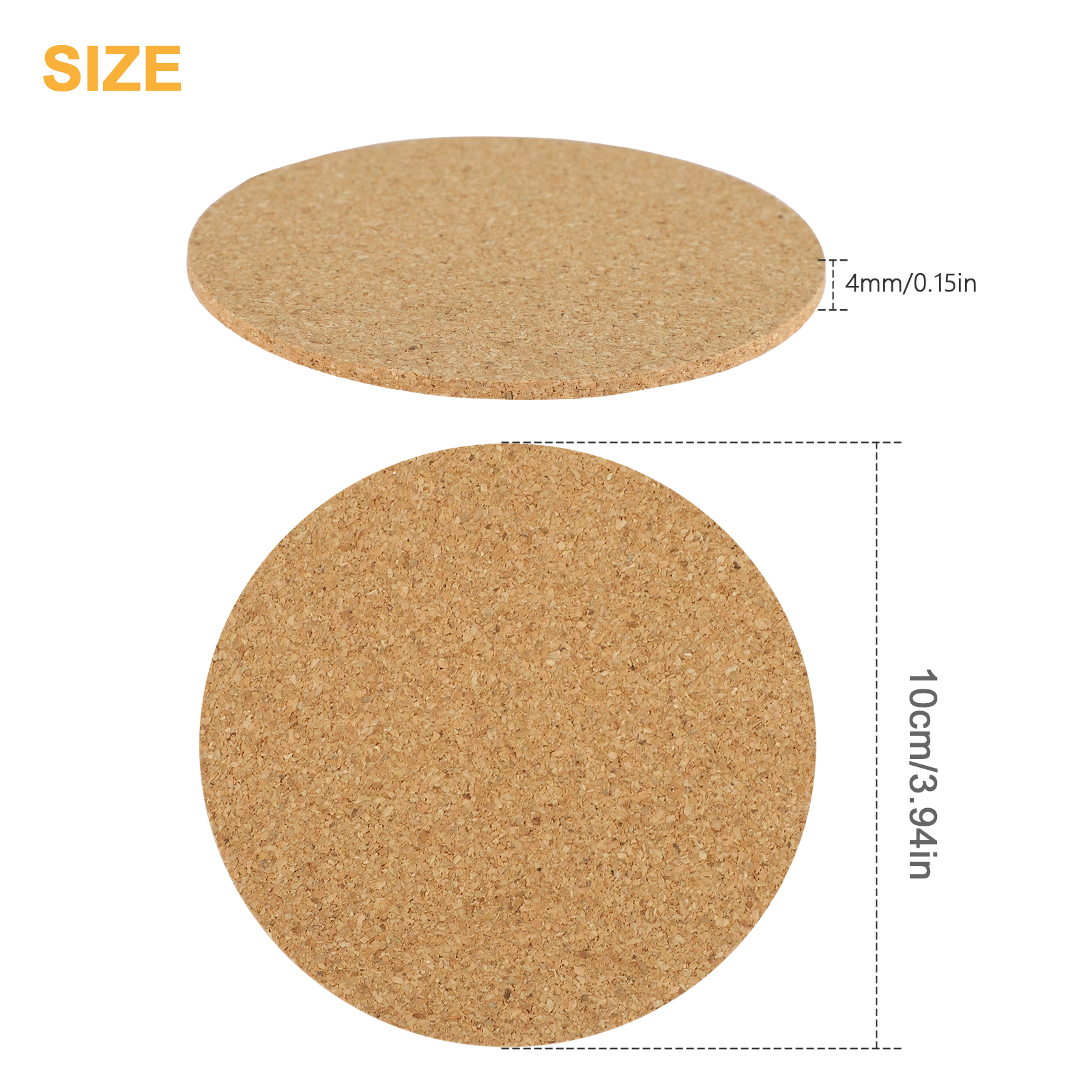 Natural Cork Coasters for Drinks Absorbent Heat/&Water Resistant Durable Saucers