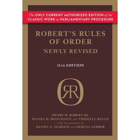 Robert's Rules of Order (Newly Revised, 11th