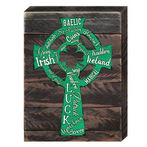 aMonogram Art Unlimited Saint Patrick's Decorated Celtic Cross Wooden Wall D cor