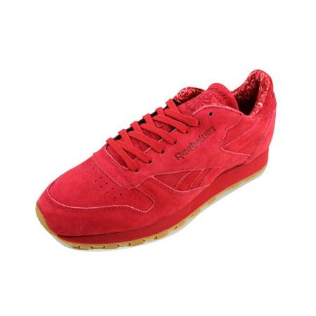 4c906630fa3b Reebok - Reebok Men s Classic Leather TDC Scarlet White-Gum BD3231 -  Walmart.com